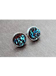 druzy stud earrings moon druzy stud earrings hello supply modern jewelry
