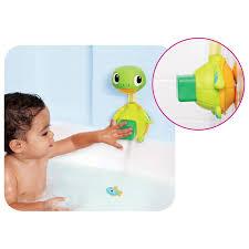 munchkin baby child interactive turtle shape shower bath toy