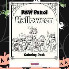paw patrol halloween background awesome nick jr halloween coloring pages gallery coloring page