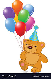 teddy bears in balloons teddy with balloons royalty free vector image