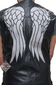biker jacket vest the walking dead daryl dixon vest with wings