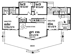 Floor Plans For A Frame Houses Cabin Style House Plan 3 Beds 2 00 Baths 1659 Sq Ft Plan 47 437
