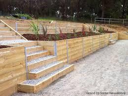 landscape timber retaining wall bennett inc treated planting 0