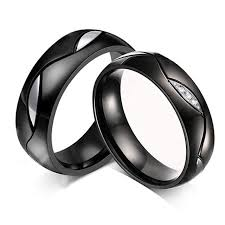 matching wedding rings black rings eternity men women wedding bands jewelry promise rings