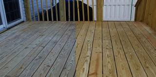 preparing new pressure treated wood deck to take a finish paint