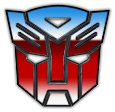 TRANSFORMERS Logo Edible wafer Party Birthday Cake Decoration