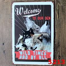 popular wolf metal wall art buy cheap wolf metal wall art lots the wolf time animal vintage home decor tin sign for wall decor metal sign vintage art