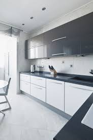 Gray And White Kitchen Cabinets Simple Modern Grey And White Kitchens Black Kitchen With Pantry