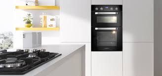 modern kitchen oven lovely electric double built in oven black color extra large oven
