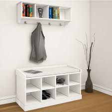 living room top new bench with shoe storage and coat rack property