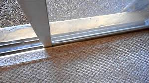 sliding glass door weather seal eliminate grinding noise from sliding glass door quick and cheap