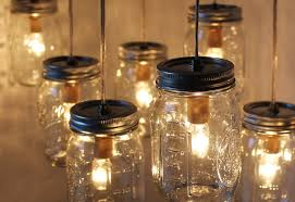 Country Dining Room Lighting by Furniture Comely Home Lighting Decoration Using Canning Jar Lamps
