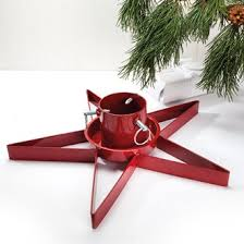metal christmas tree stand red ø 9cm 12x47cm pobra a s