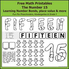 number bonds to 15 free math worksheets