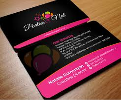 wedding planner business card beautiful party planning business