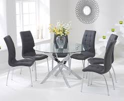 Glass Dining Table And 6 Chairs Glass Dining Table For 6 Visionexchange Co