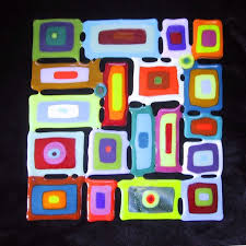 theme glass tile wall art fused combination personalized tremendous fantastic hangings painted ceramic