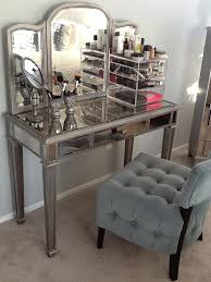 furniture silver hayworth vanity with table standing lamp for