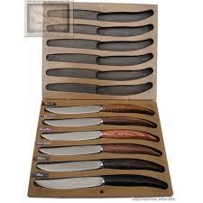 couteaux steak laguiole couteau le perigord de nontron coffret 6 couteaux steak multi essences