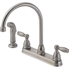 delta kitchen faucet delta windemere 2 handle standard kitchen faucet with side sprayer