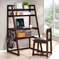 Leaning Ladder Bookcases by Leaning Ladder Desks Wayfair Shelf Desk Loversiq