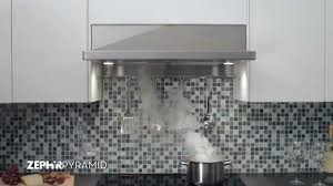 Recirculating Kitchen Hood Zephyr Pyramid Under Cabinet Range Hood Youtube