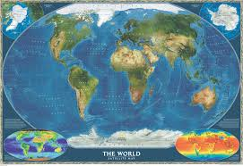 Earth World Map by Satellite World Map World Maps National Geographic Maps