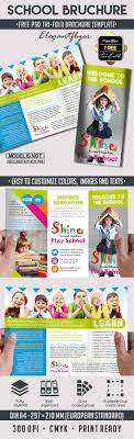 school brochure design templates school free psd tri fold psd brochure template on behance