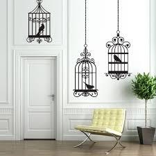 trio birdcages wall decal bedroom office kids room zoom