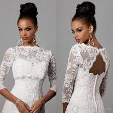 dress and jacket for wedding bolero jacket wedding dress 2017 bateau neckline backless 3 4