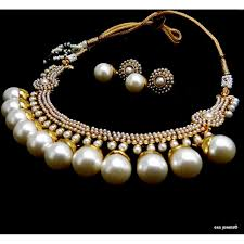 big pearls necklace images Royal big pearl necklace set JPG