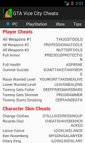 android cheats gta vice city cheats android app review digital conqueror