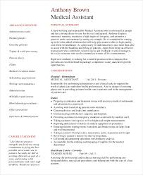 medical assistant resume 9 free sample example format free