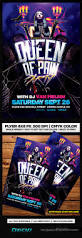 queen of pain party halloween flyer template psd by remakned