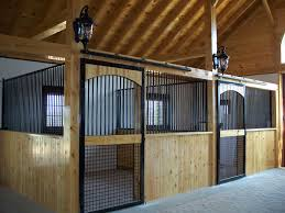 Sliding Horse Barn Doors by Steel Stall Door With Custom Wood Finish Precise Buildings