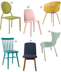 Pastel Dining Chairs Get The Look 30 Colorful Dining Chairs Stylecarrot