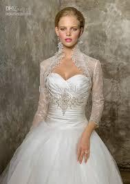dress jackets wedding 2018 sheer ivory lace 3 4 sleeves jacket bolero for wedding