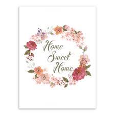 online shop mooie bloemen home sweet home citaat canvaskunst