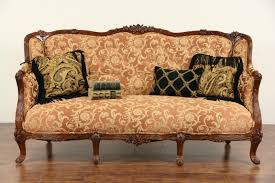 vintage sofa sold style 1930 s carved vintage sofa new upholstery