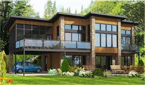 contemporary home plans contemporary home plan with all beds 90241pd