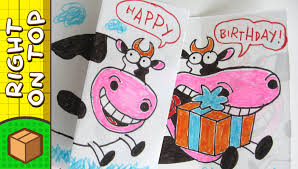 diy birthday card cow crafts for kids on boxyourself youtube