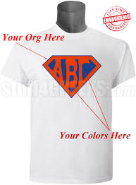 custom embroidered t shirt with letters inside superman shield