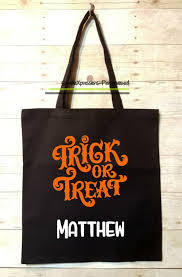 personalized trick or treat bags personalized trick or treat bag tote bag