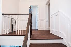 how to change the color of your hardwood floors and handrails