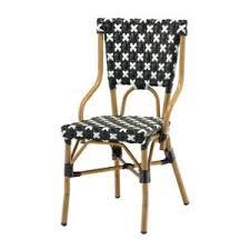chaise bistrot alu rotin design chaise bistrot bric en polyrotin bleu pas cher