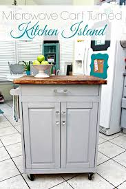 kitchen island microwave microwave cart turned kitchen island 4