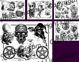 demon dean tattoo flash designs