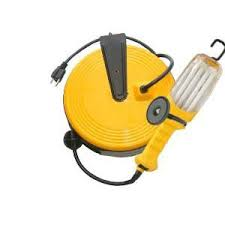 bayco led portable work light bayco sl 875 16 3 40 ft 26w fluorescent retractable work light bysl