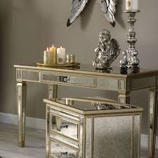 wood and mirrored console table mirrored console table mirrored console hall table candle and blue
