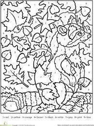 coloring by number all coloring page